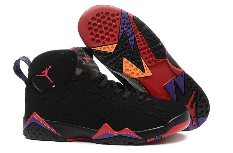 Latest Nike Air Jordan 7 Purple Red Orange Basketball Shoes For Women
