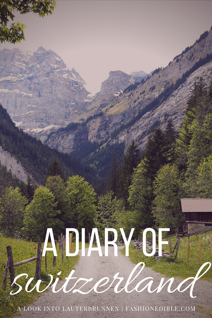 a photo diary of Lauterbrunnen, Grindelwald and Gimmelwald