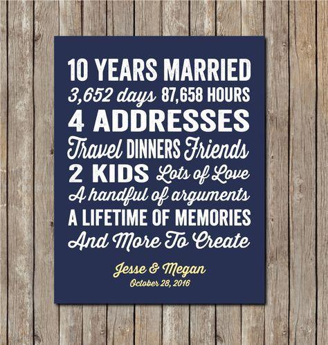 10th Anniversary Gift 10th Wedding Anniversary 10 By Karimachal