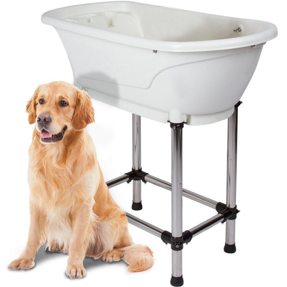Paw Essentials Pet Grooming Portable Bath Tub Station Dog Bath