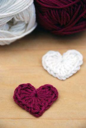 Häkelliebe - Anleitung zum Herzen häkeln | Nähen | Crochet ...