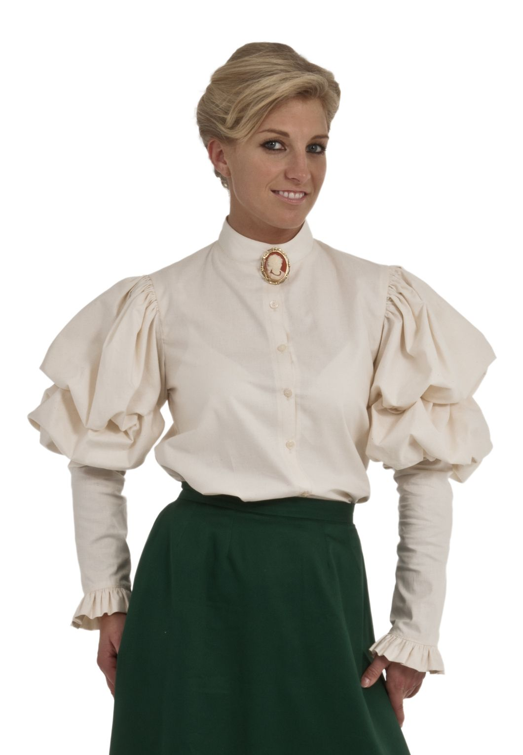 62c31a892d Nora Victorian Blouse in Black Cotton (do buttons come in black )