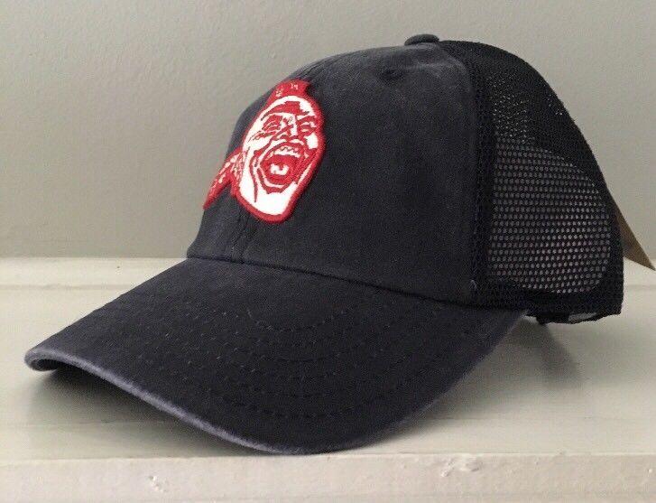 a68840d7a22d4 Atlanta Braves American Needle Cap Hat Chief Nakahoma Snapback Mesh Navy  Blue  AmericanNeedle  AtlantaBraves