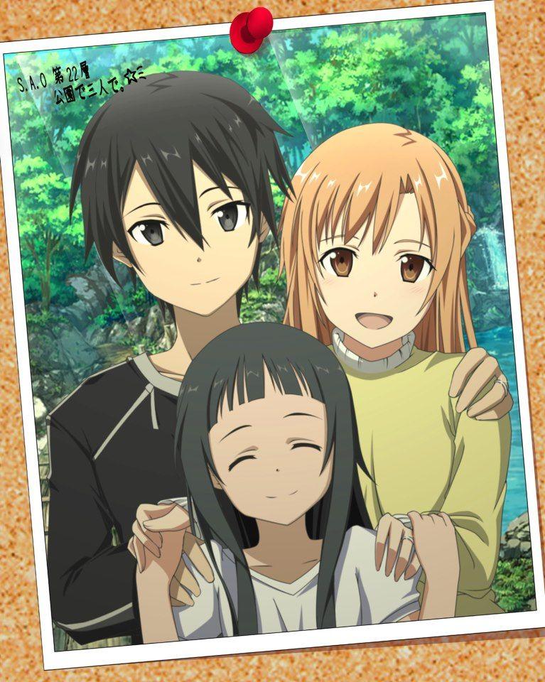 Kirito, Asuna, Yui.