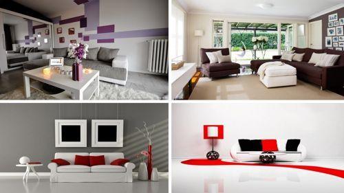Como combinar colores para pintar paredes de salas merce - Como combinar colores en paredes ...