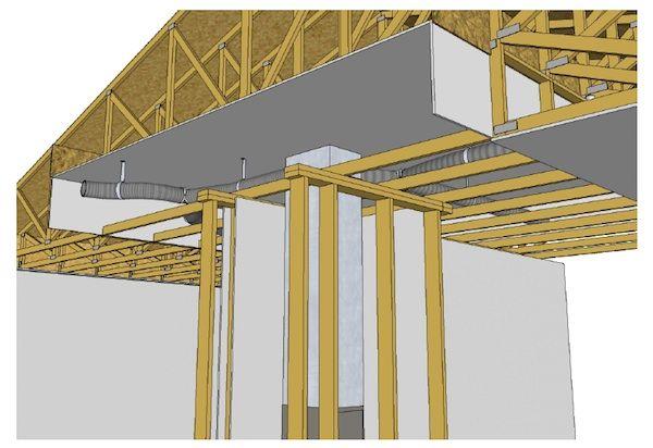 Plenum Truss Building A House Attic Storage Garage