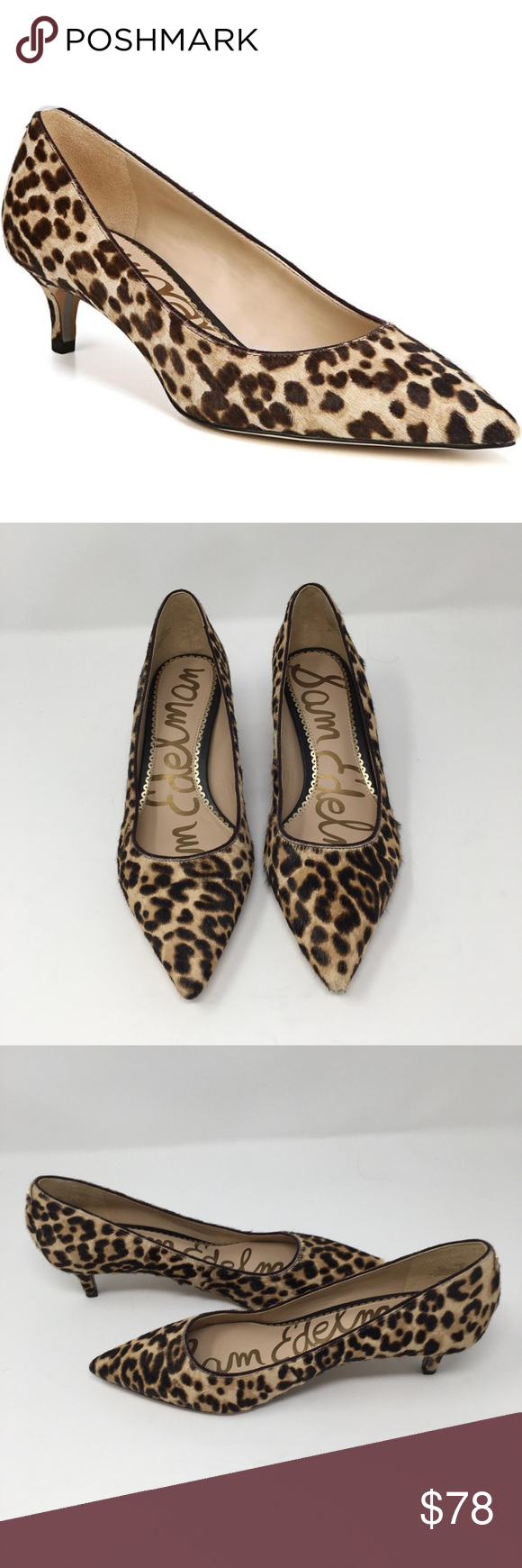 Sam Edelman Dori Pump Leopard Size 6 Sam Edelman Dori Leopard Kitten Heel Pump Excellent Condition Floo Shoes Women Heels Sam Edelman Shoes Kitten Heel Pumps