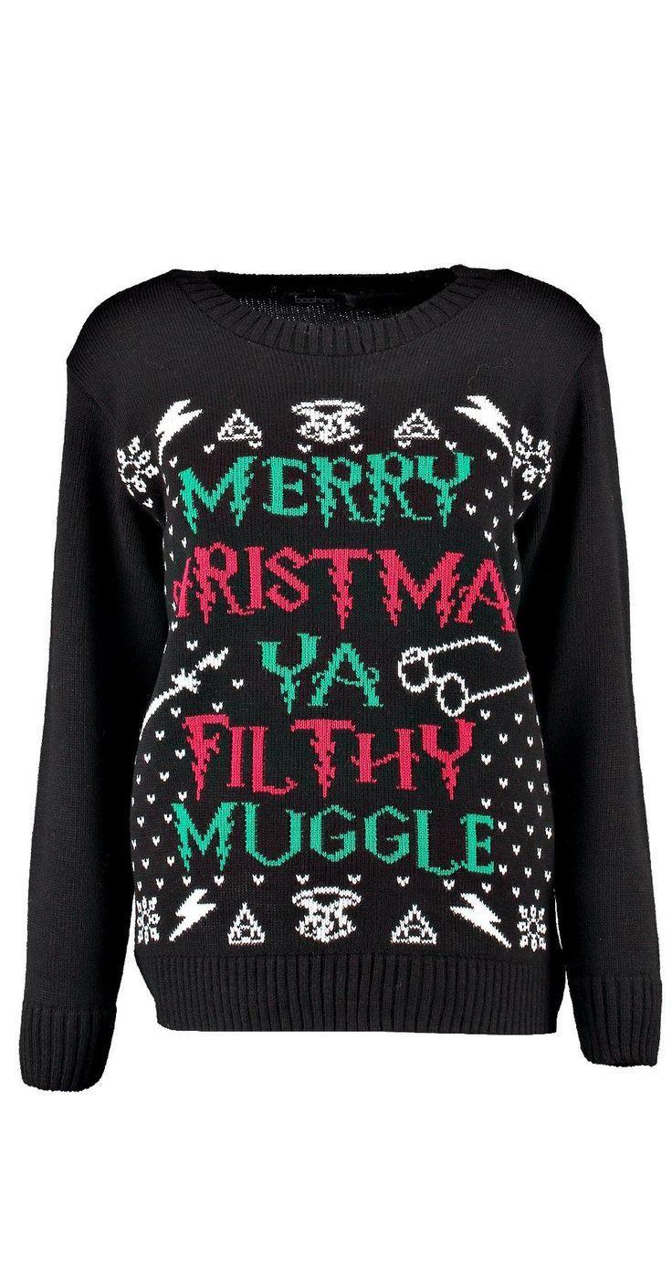 Nerd Christmas Jumper.Harry Potter Christmas Sweater Nerd Fashion Harry Potter