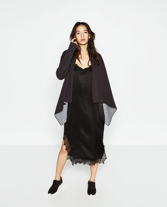 Image 1 of DOUBLE-FACED POINTED JACKET from Zara