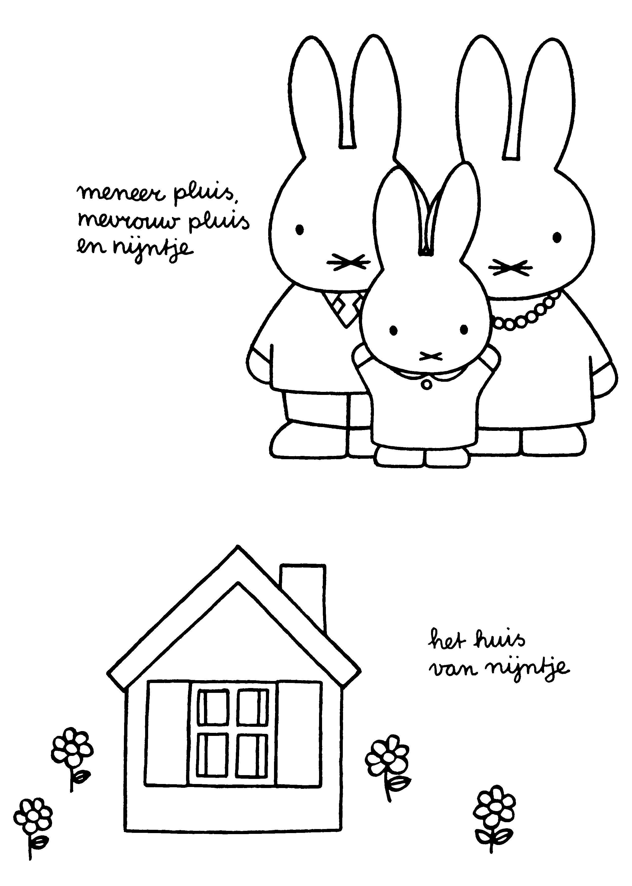 kleurplaten thema huis