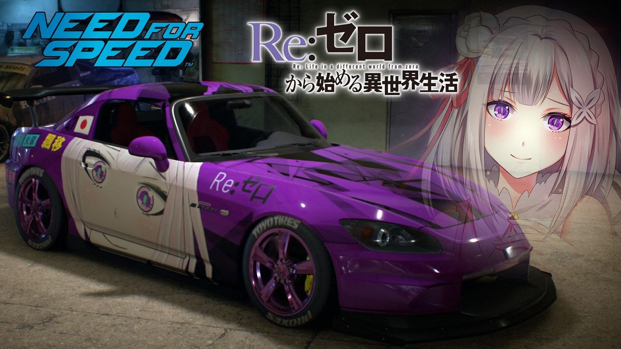 Emilia rezero anime wrap need for speed