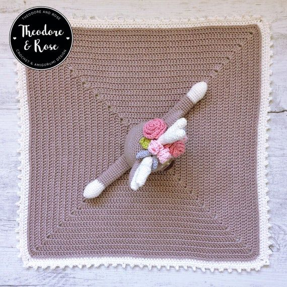 Deer crochet security blanket | lovey | Finley The Little Fawn | Crochet Pattern | PDF - PATTERN in English #crochetsecurityblanket