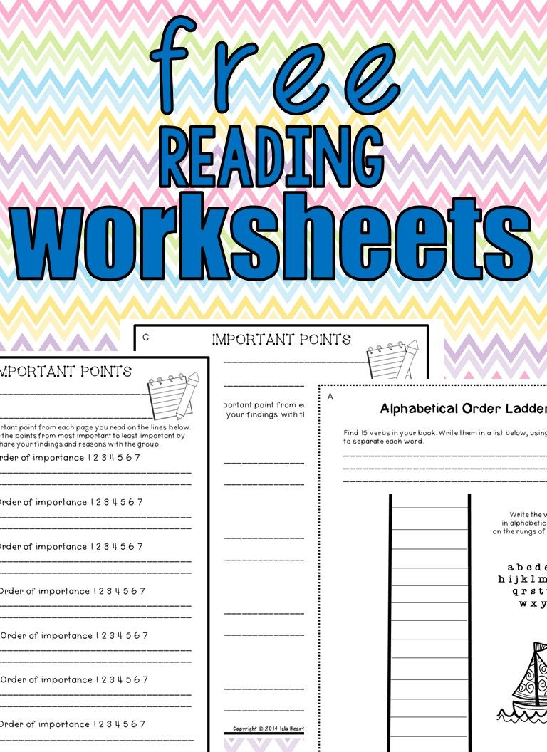 Free Reading Worksheets Reading Worksheets Reading Comprehension Worksheets Guided Reading Activities [ 1056 x 768 Pixel ]