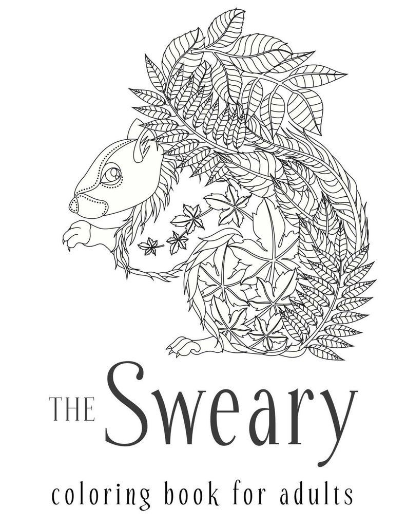 Fancy swear words coloring book - The Sweary Coloring Book For Adults