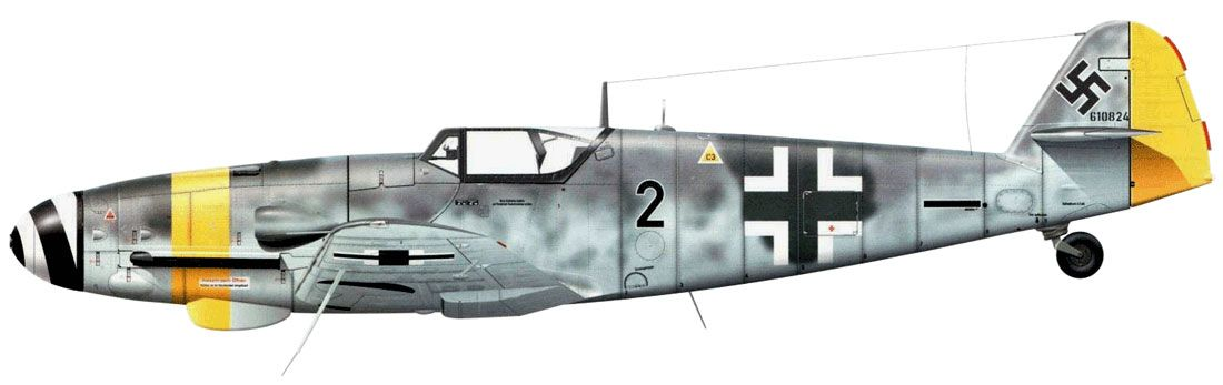 Bf.109G-10/U4 Unit: II/JG 52 Serial: 2+- (W.Nr.610824) Neubiberg, Germany, May 1945.