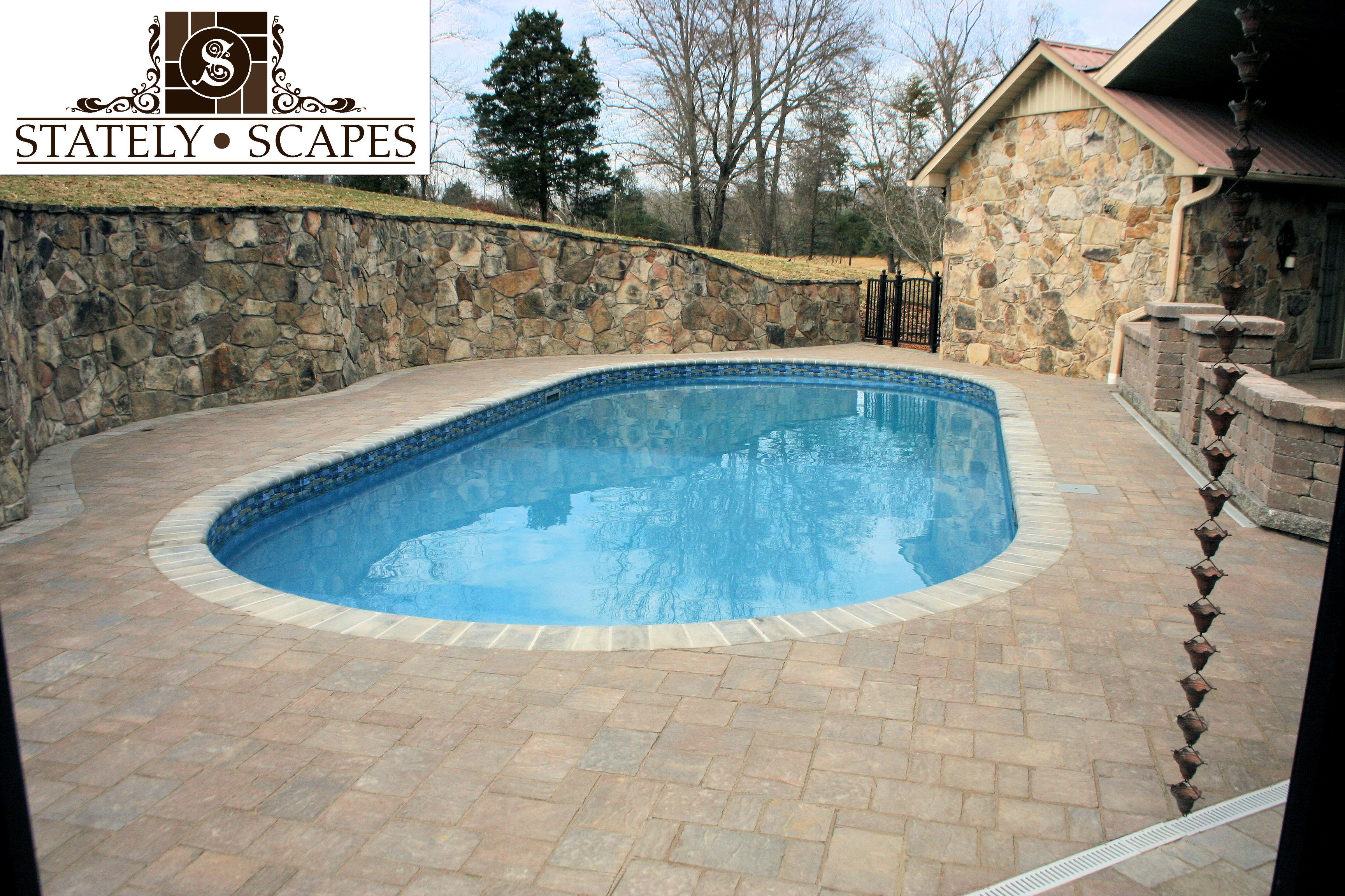 Matrix Swimming Pool With Belgard Arbel Urbana Pavers Pool
