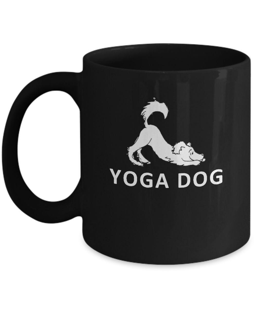 Yoga Dog Downward Dog Pose Funny Mug