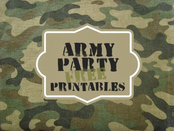 Greatfun4kids Army Party Free Printables for drinks