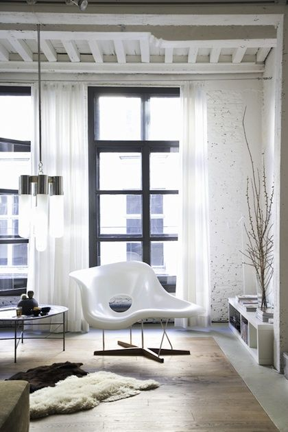 White Brick And Black Window Sills