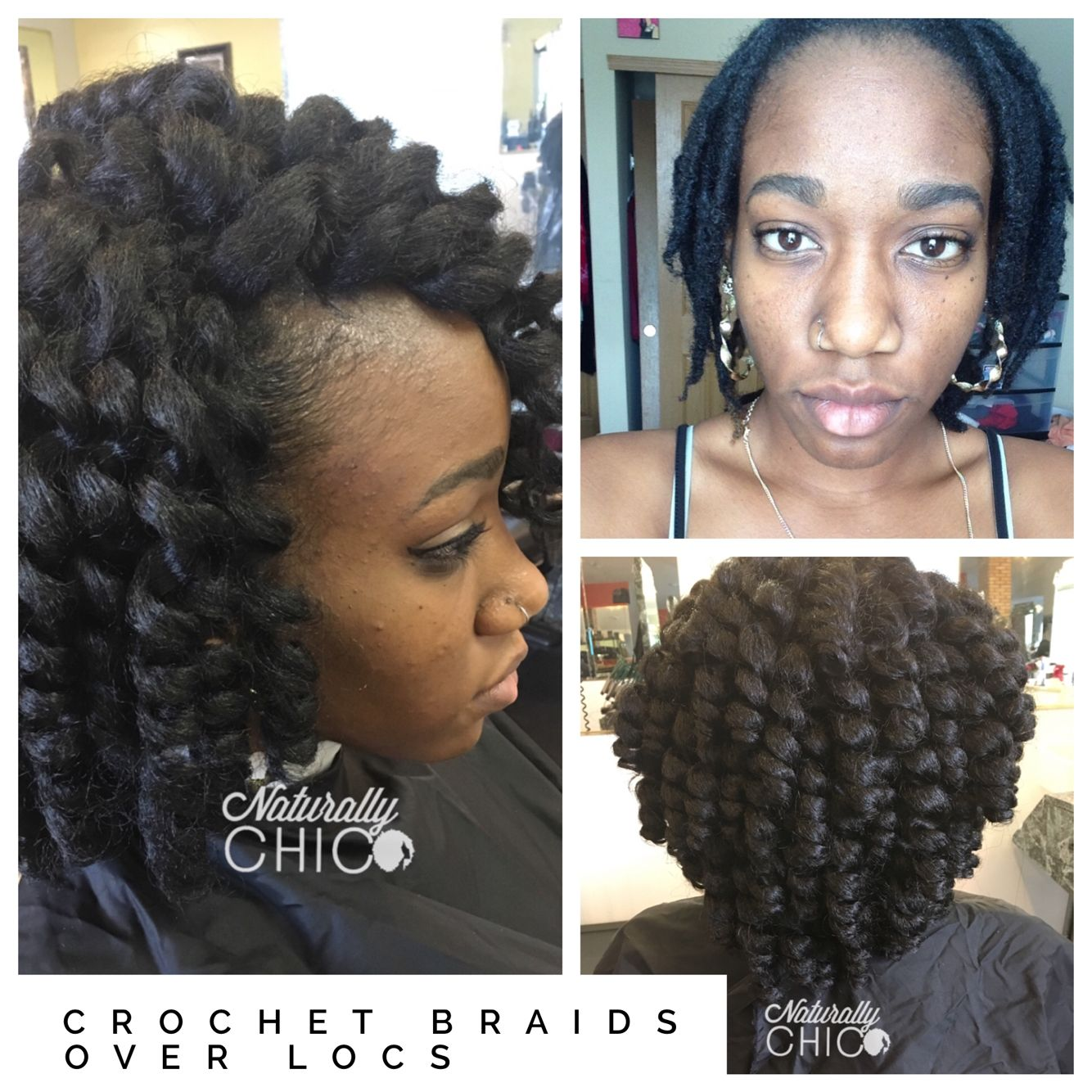 Jamaican Wedding Hairstyles: Crochet Braids Over Locs. Jamaican Bounce Hair Was Used