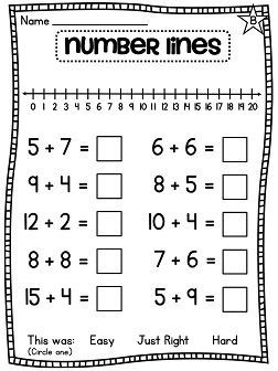 first grade math unit 4 addition to 20 math worksheets and word problems. Black Bedroom Furniture Sets. Home Design Ideas