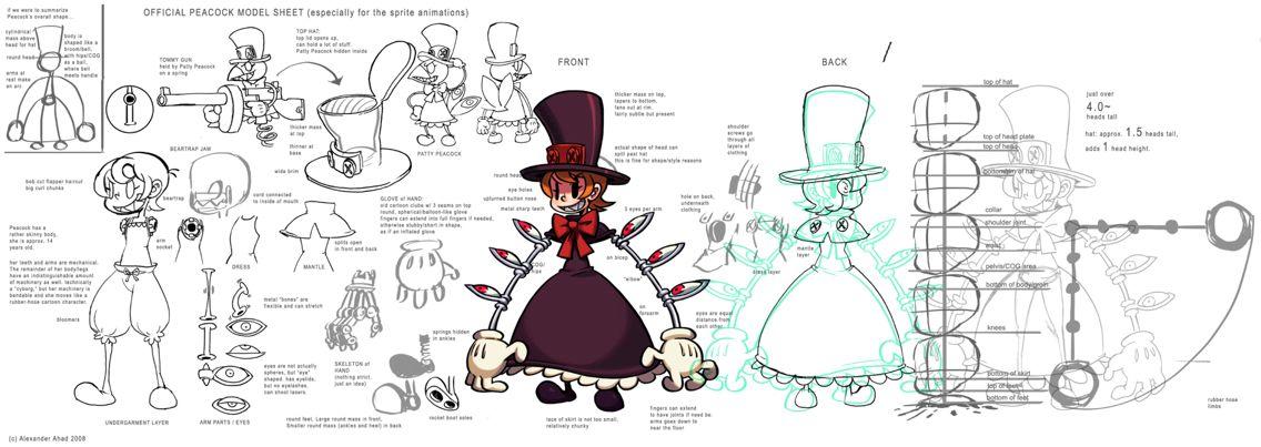 Peacock Skullgirls Concept Art