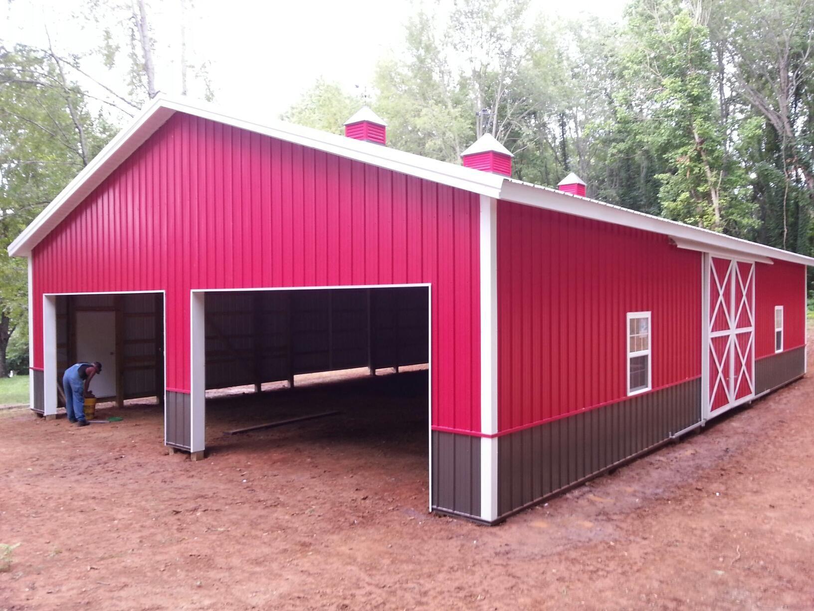 40x60x12 Pole Barn Garage Barns