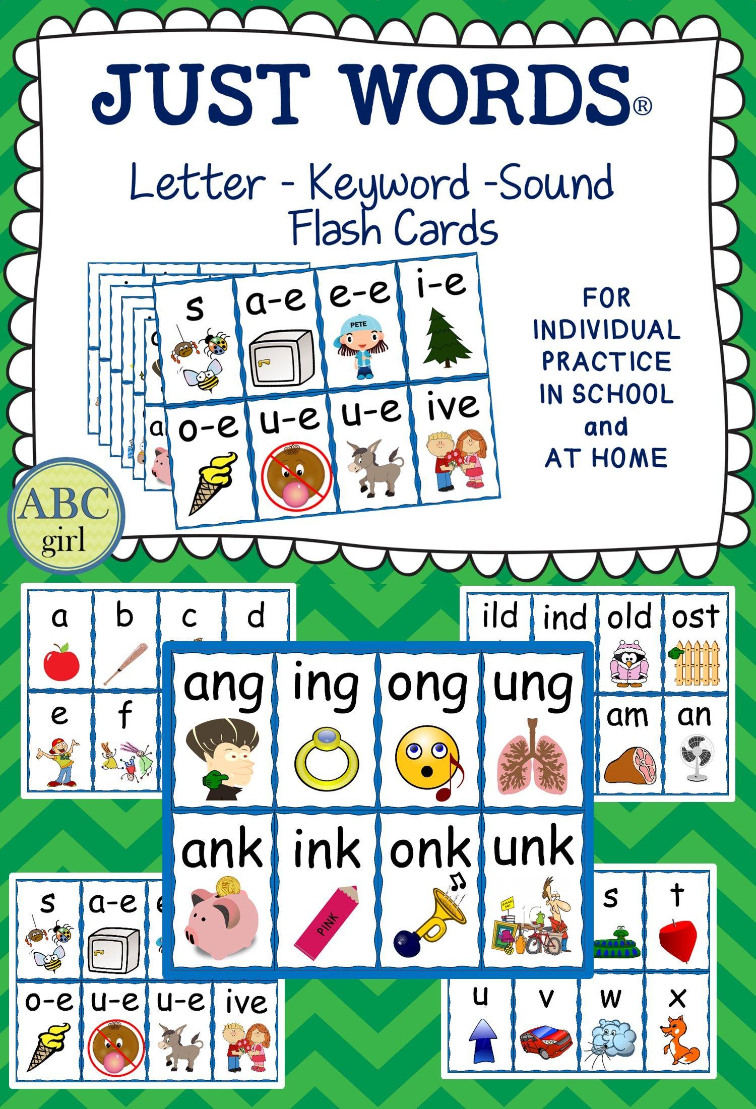 Just Tap Letter Keyword Sound Flash Cards