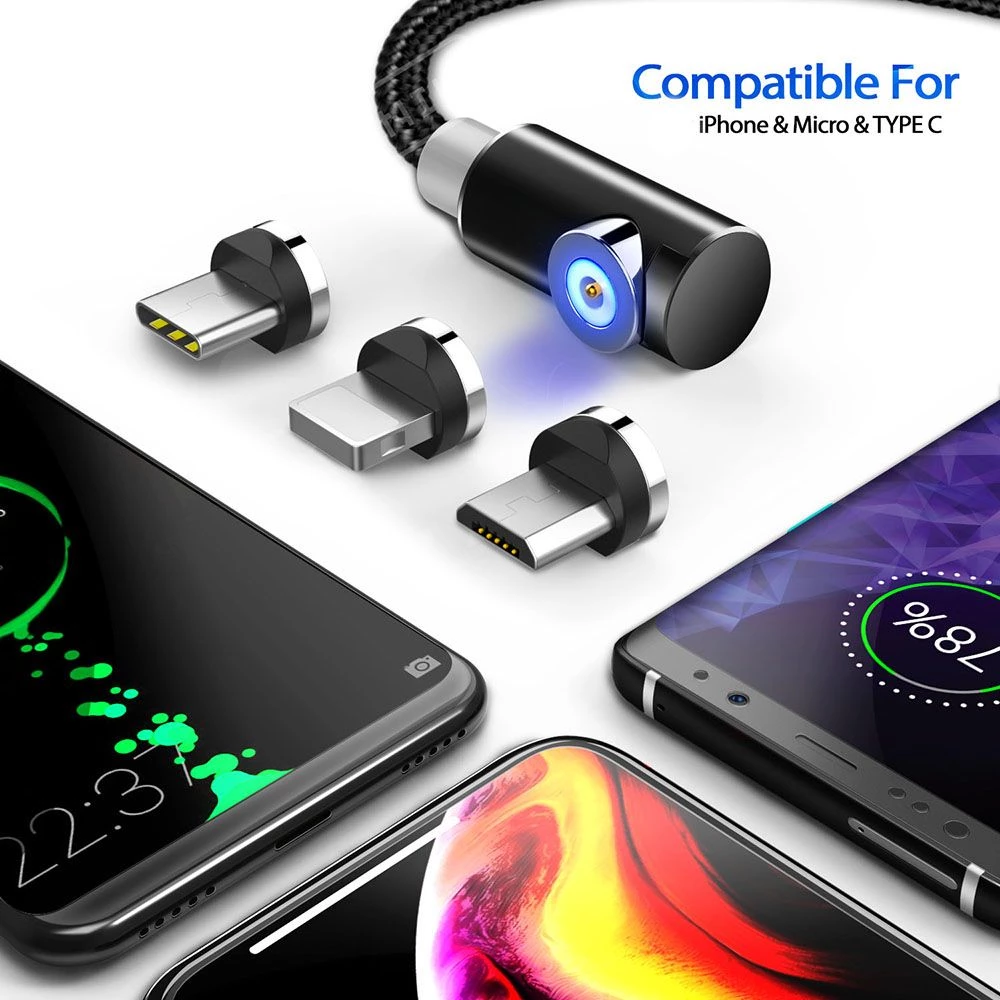 3in1 Cable Charger MicroUSB Type C Lightning