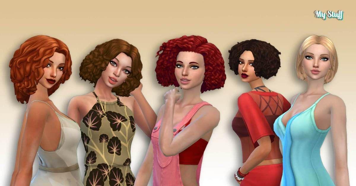 Female Medium Hair Pack 14 Medium Hair Styles Hair Pack Female