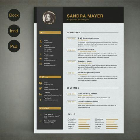 Pin by revathi babu on Resume template free Pinterest Resume