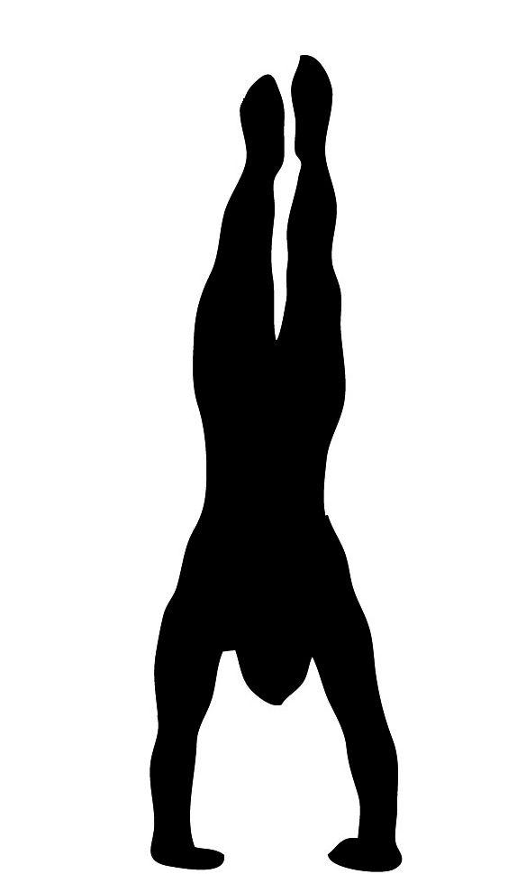 handstand silhouette clipart stams stencils masks pinterest rh pinterest com