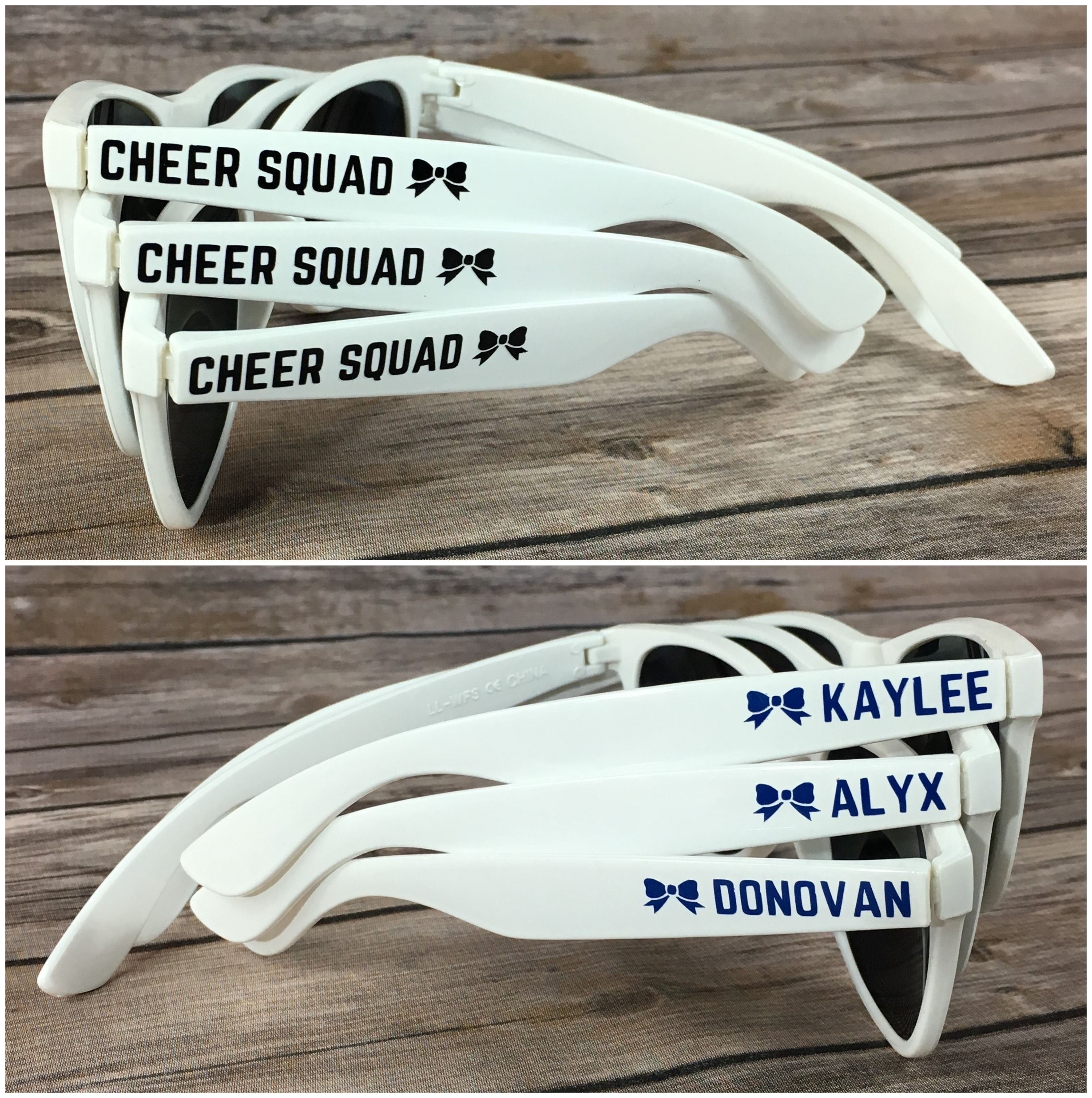 Cheer squad kids personalized sunglasses sports team