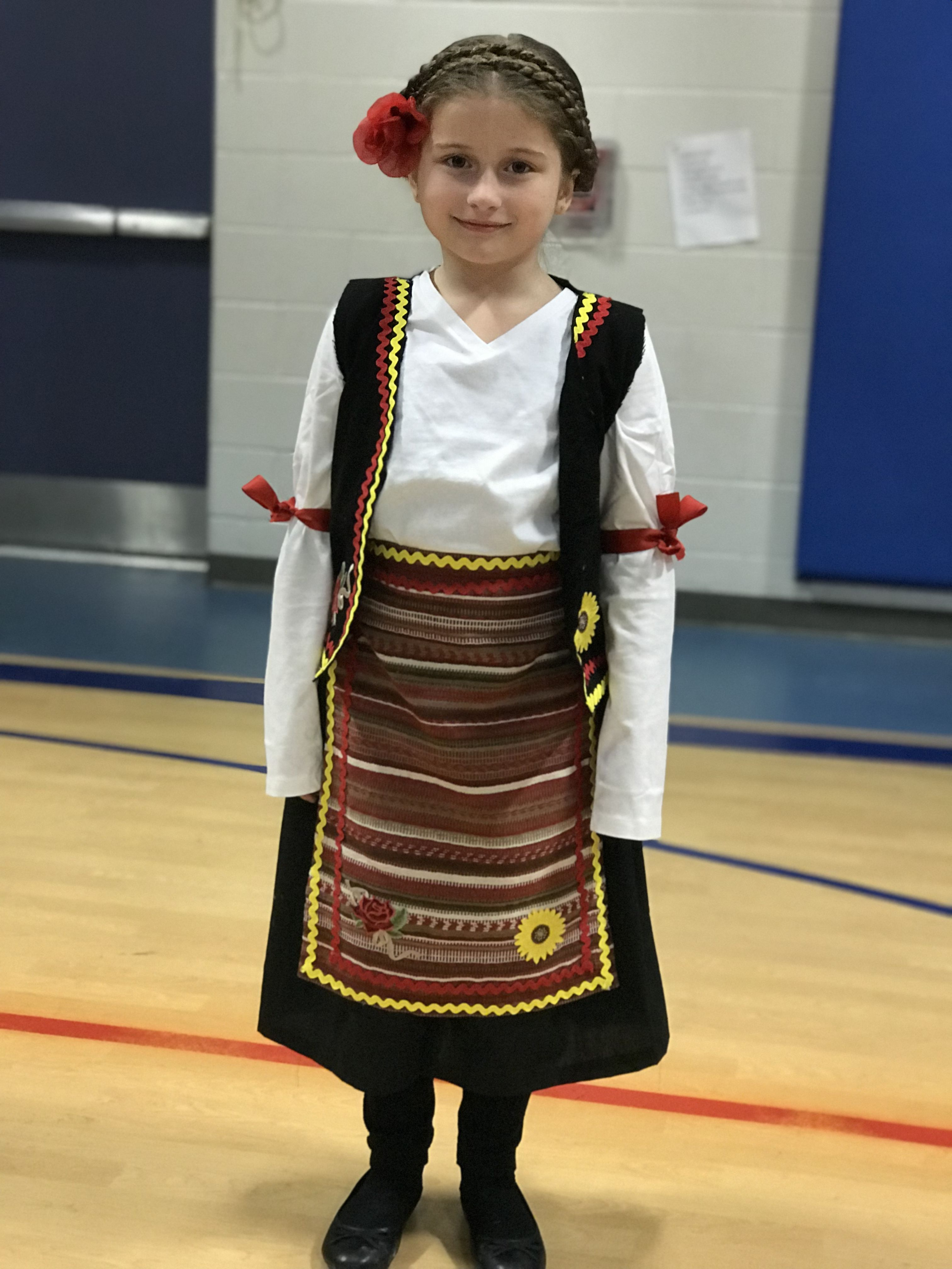 Serbian costume I made for my daughters passport culture