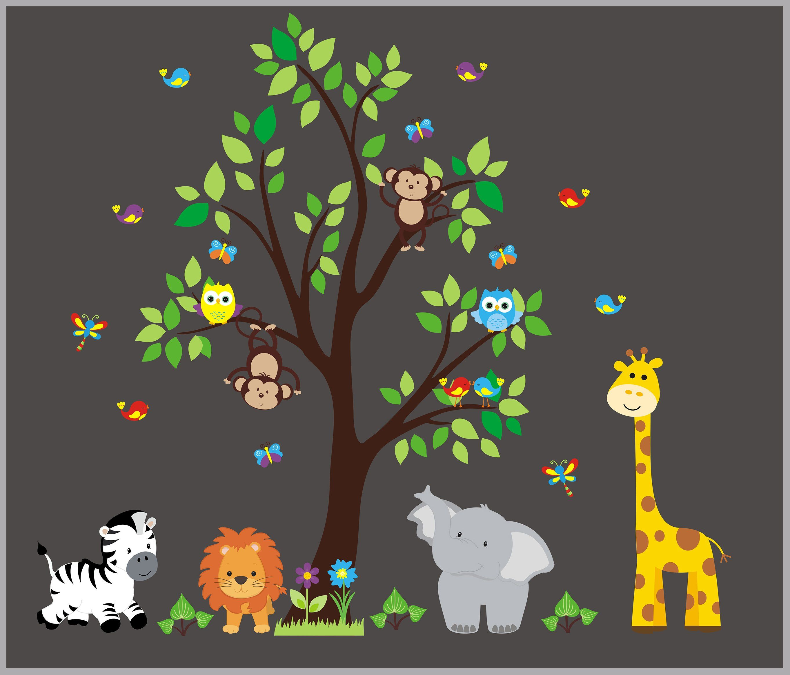 Nursery Wall Decal  Jungle Decal  Kids Wall Decal