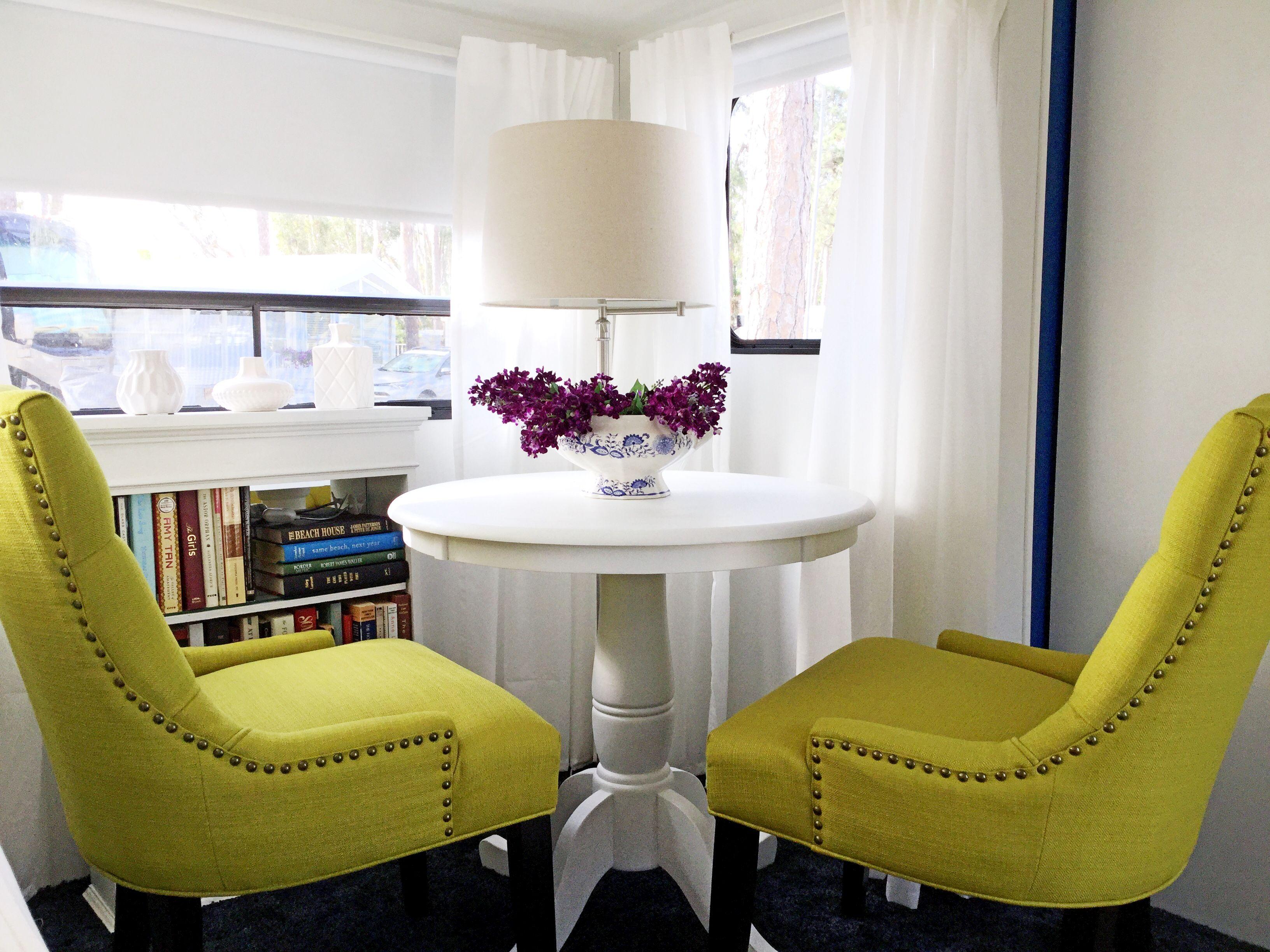 Rv Dining Redo Blue Chairs Living Room Wayfair Living Room