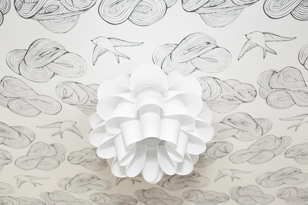 Via Barbour Spangle Design Wallpaper On The Ceiling