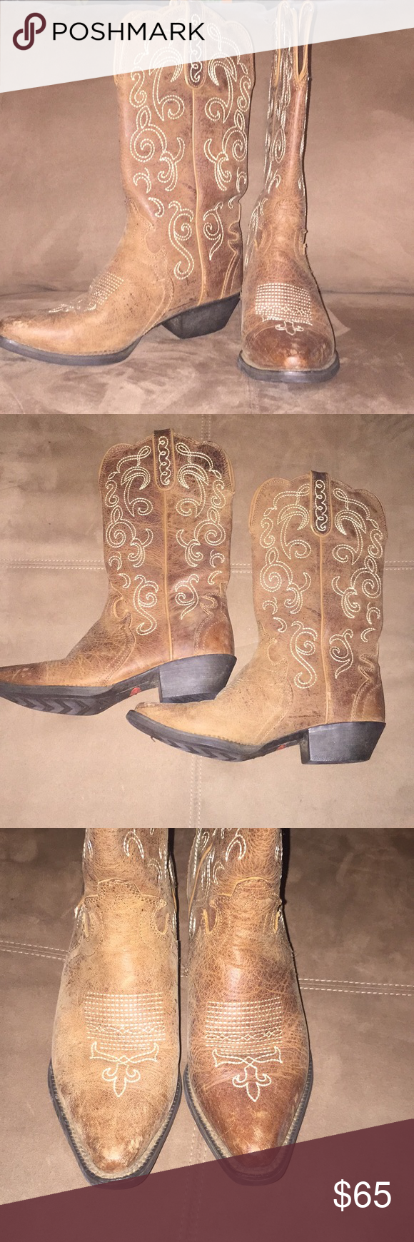 Women's Snip Toe Justin's Boots Awesome—like new pair of