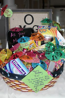 30th Birthday Bring 30 Of An Item Or Something That Has On It Gift Basket
