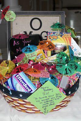 30th Birthday Gift Basket