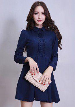 Buy Peter Pan Collar Fit & Flare Dress | mysallyfashion.com Malaysia