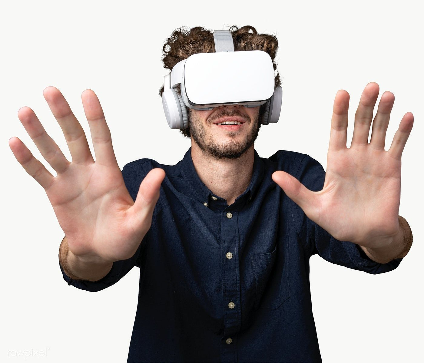 Download Premium Png Of Young Man Using A Vr Headset Transparent Png Vr Headset Virtual Reality Goggles Vr Goggles