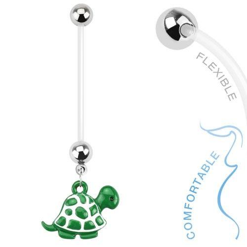 Bauchnabelpiercing Schildkröte für Schwangerschaft Bioflex PTFE