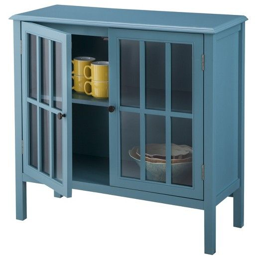Non Deep Side Board For My Itty Bitty Dining Room But Saw In Person And Kinda Cheap Not Quite The Right Blue ThresholdTM Windham Accent Cabinet Target