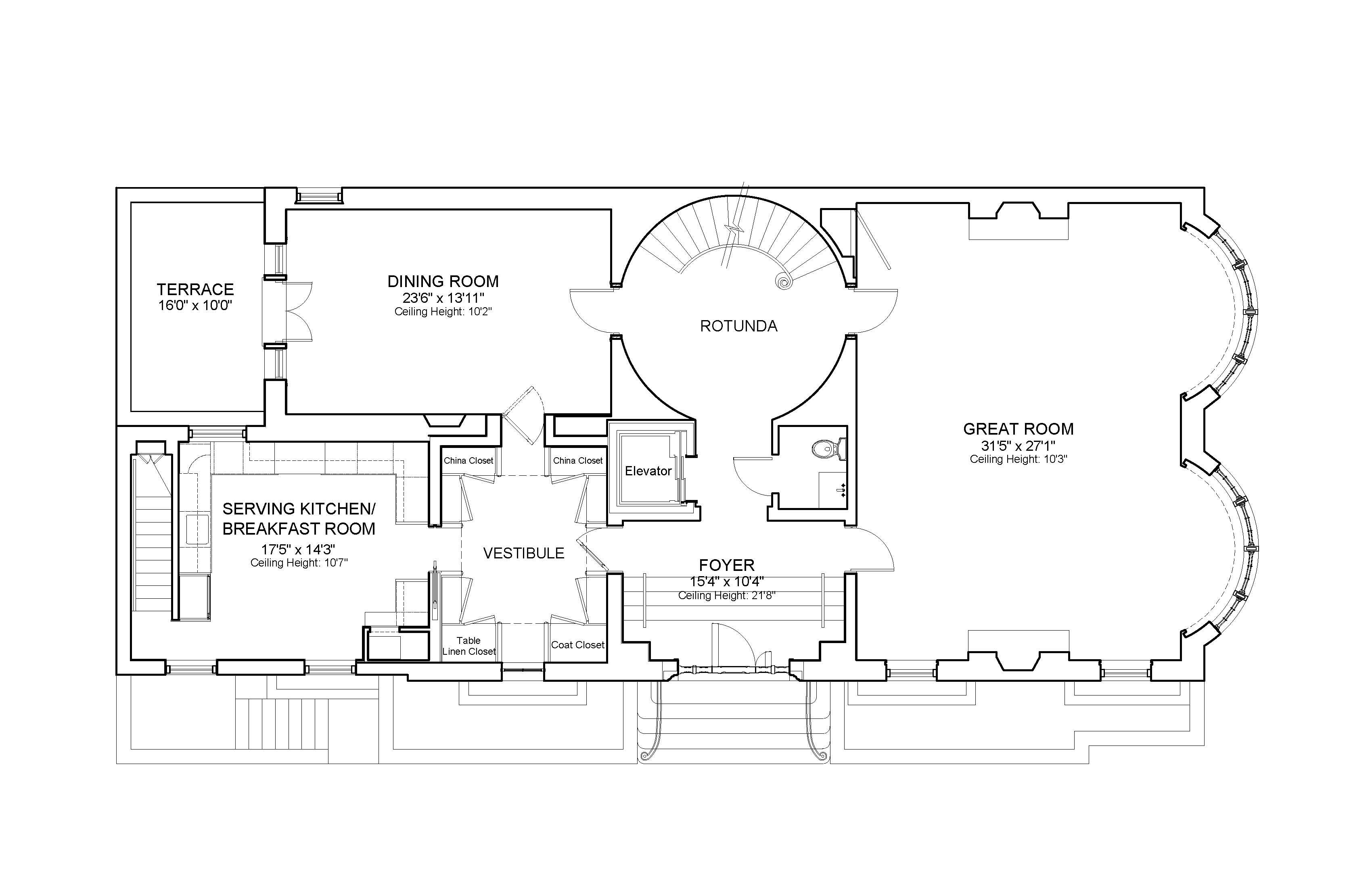 First floor plan, 7 Sutton Square, NYC. | All Kinds of Homes with ...