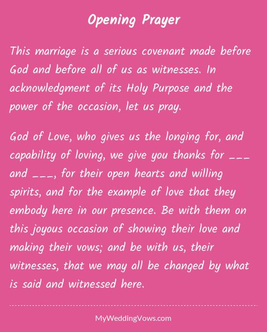 Opening Prayer In 2019 Misc Wedding Marriage Wedding Vows