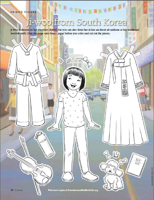 Friend Figure: Ji-woo from South Korea (LDS The Friend Magazine ...