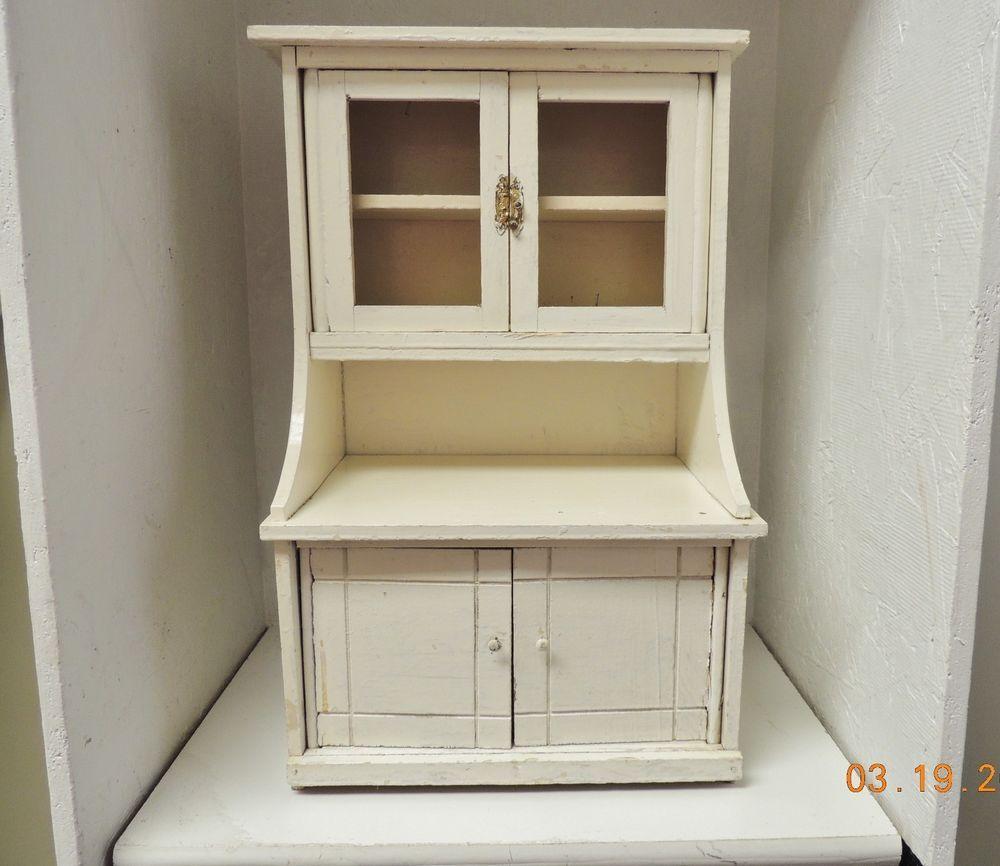 Primitive Child S Hoosier Cabinet Handmade Painted Shabby 17 Tall 6 1 2