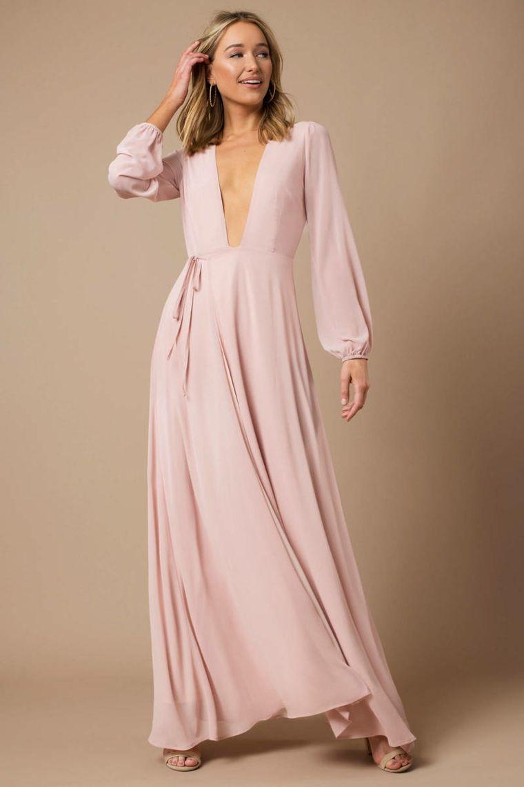 Abbigliamento elegante per una cerimonia con abito di colore rosa ... 167d1239994