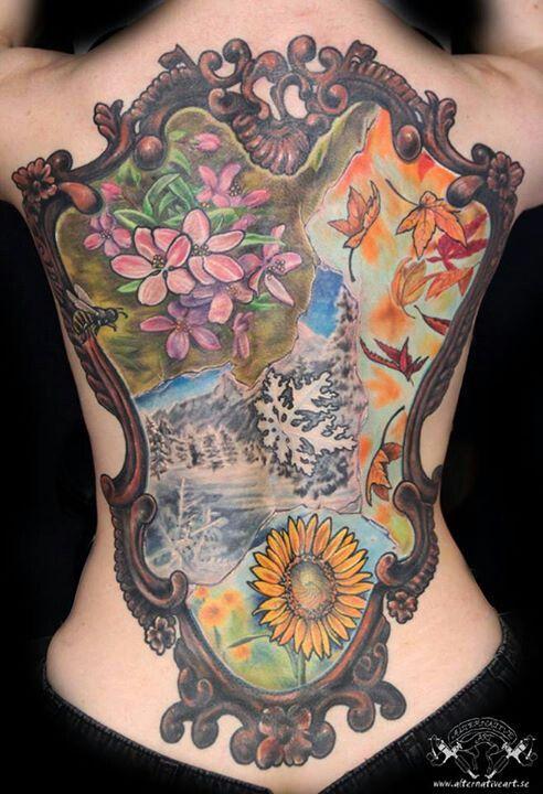 Small Mirror Tattoo: Nature Tattoos, Tattoos, Body